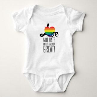 Bodysuit van het Baby van de Haat van de liefde