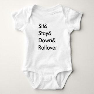Bodysuit van het Baby van het Omvergooien van