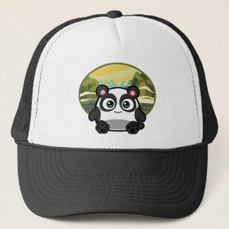 Boe-geroep als Kleding van de Panda Trucker Pet