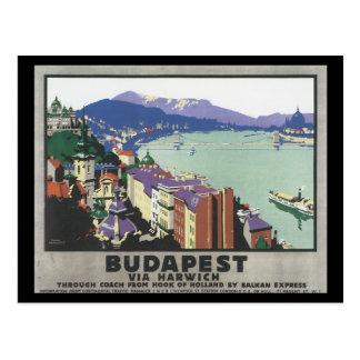 Boedapest via het Poster van de Reis Briefkaart
