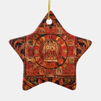 Boeddhistische Mandala van Medeleven Keramisch Ster Ornament