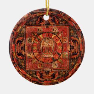 Boeddhistische Mandala van Medeleven Rond Keramisch Ornament