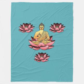 Boedha & Lotus Fleece Deken