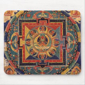 Boedha Mandala Antiek Tibetan Thanka Muismatten