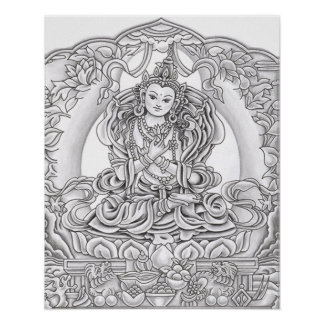 Boedha van de Druk van het Medeleven Poster