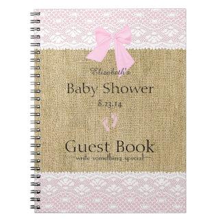 Boek van de Gast van het Baby shower van het Ringband Notitie Boeken