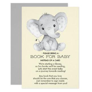Boek van het Baby shower van de olifant het Kaart