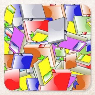 Boeken en Meer Boeken Vierkante Onderzetter
