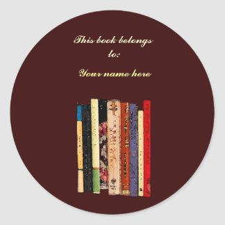 Boekenrekken Bookplate Ronde Sticker