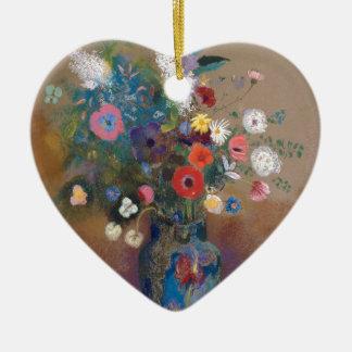 Boeket van Bloemen - Odilon Redon Keramisch Hart Ornament