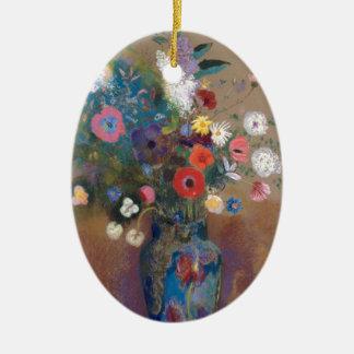Boeket van Bloemen - Odilon Redon Keramisch Ovaal Ornament