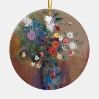 Boeket van Bloemen - Odilon Redon Rond Keramisch Ornament