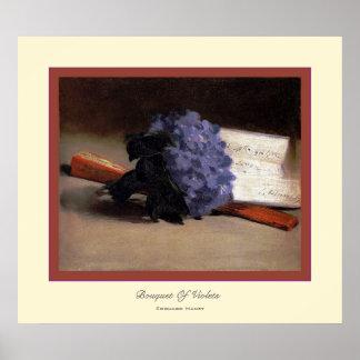Boeket van Viooltjes ~ Edouard Manet Poster