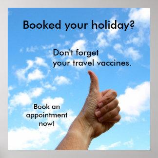 Boekte poster - uw vakantie?