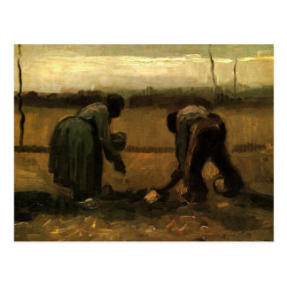 Boer en de Vrouw die van de Boer Aardappels Vincen Briefkaart