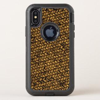 Boete Geweven Mandenmakerij OtterBox Defender iPhone X Hoesje