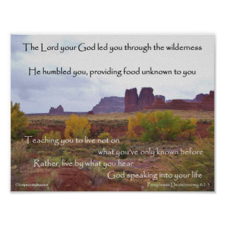 Bogen, de Kleuren van de Herfst, Deuteronomy 8 Poster