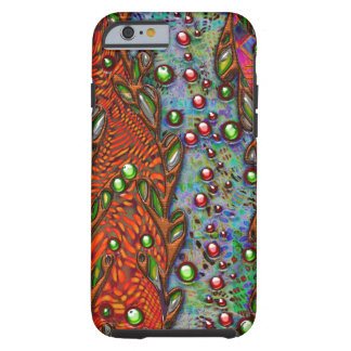 Boheems kunst abstract patroon tough iPhone 6 hoesje