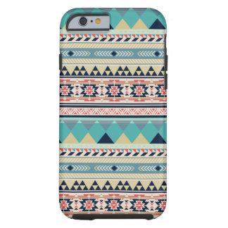 Boheems Turkoois Stammen Geometrisch Patroon Tough iPhone 6 Hoesje