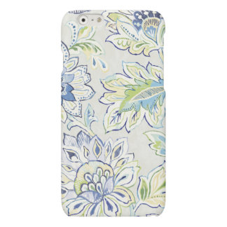 Boheemse Blauwe Bloem Matte iPhone 6 Hoesje