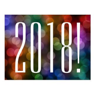 bokeh van 2018 briefkaart