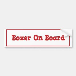 Bokser aan boord van de Sticker van de Bumper
