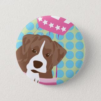 bokser hond ronde button 5,7 cm