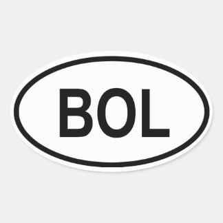 "Bolivië ""BOL "" Ovale Sticker"