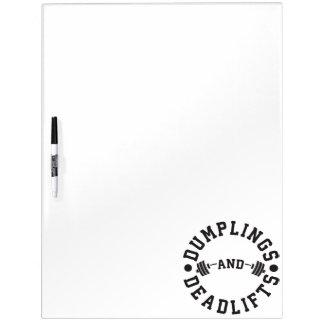 Bollen en Deadlifts - Grappige Training Whiteboards