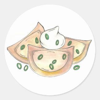 Bollen Foodie van de Aardappel van de Keuken van Ronde Sticker