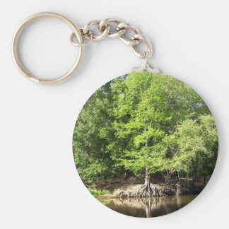 Bomen bij Grote Cipres Bayou Keychain Sleutelhanger