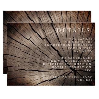 Bomen & details van de Ontvangst van het Huwelijk 8,9x12,7 Uitnodiging Kaart