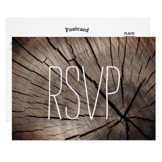 Bomen RSVP & het Geweven Huwelijk van de Natuur 8,9x12,7 Uitnodiging Kaart