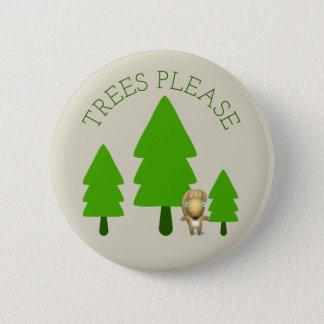 Bomen tevreden ronde button 5,7 cm