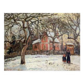Bomen van de kastanje in Louveciennes, c.1871-2 Briefkaart