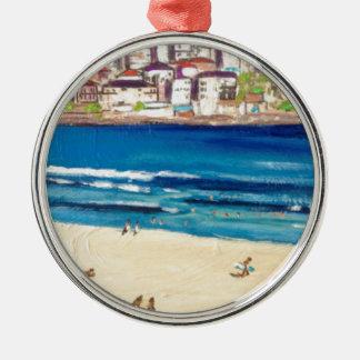 Bondi Views'17 Zilverkleurig Rond Ornament