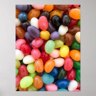 Bonen de van Achtergrond Pasen Jellybean van Poster