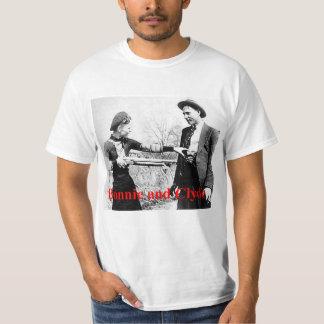 Bonnie en de Ster Clyde kruisten Minnaars of wat T Shirt