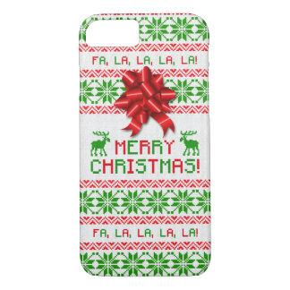 Boog van de Sweater van Kerstmis van Kerstmis de iPhone 8/7 Hoesje
