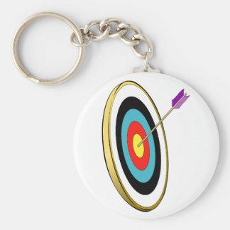 Boogschieten Keychain Basic Ronde Button Sleutelhanger