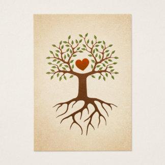 Boom met hart en wortels visitekaartjes