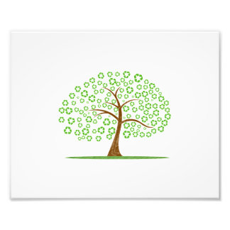 boom met recyclen voor bladereneco design.png fotoafdruk