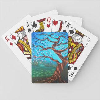 Boom van de Kers van de douane Surreal Pokerkaarten