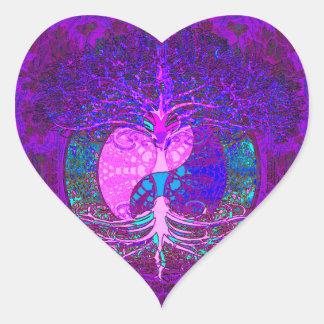 Boom van het Hart van het Leven Hart Sticker