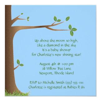 boom van het leven; baby shower 13,3x13,3 vierkante uitnodiging kaart