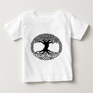 Boom van het leven baby t shirts