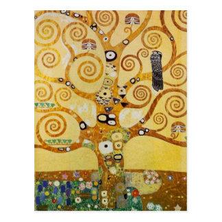 Boom van het Leven door Klimt Briefkaart