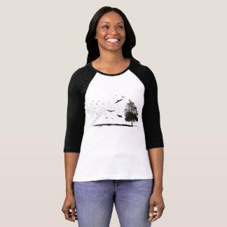 Boom van het Leven en Vogels T Shirt