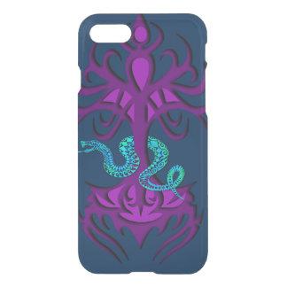Boom van het leven met paarse slang iPhone 7 hoesje