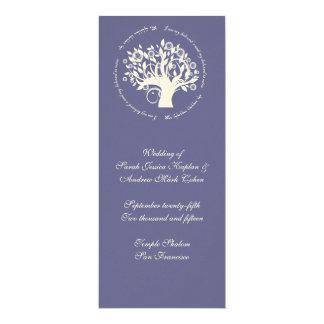 Boom van Paarse Kaart van de Ceremonie van het 10,2x23,5 Uitnodiging Kaart